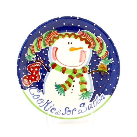 Cookies for Santa 8 inch Plate