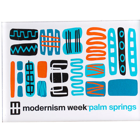 Modernism Week Mambo Design Acrylic Magnet