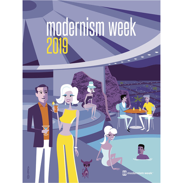 2019 Modernism Week Palm Springs Poster By Shag
