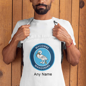 Personalised Wycombe Wanderers FC Logo Apron