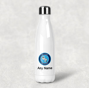 Personalised Wycombe Wanderers FC Stainless Steel Water Bottle