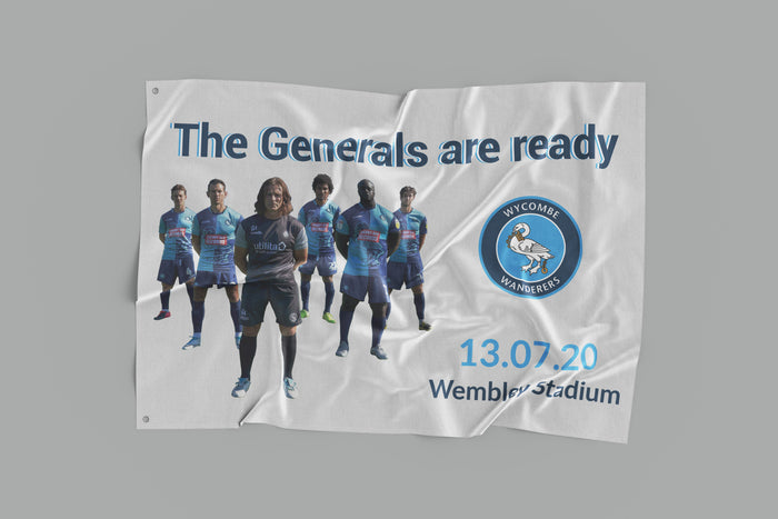 Wycombe Wanderers Play-Off Final Flag - Limited Edition