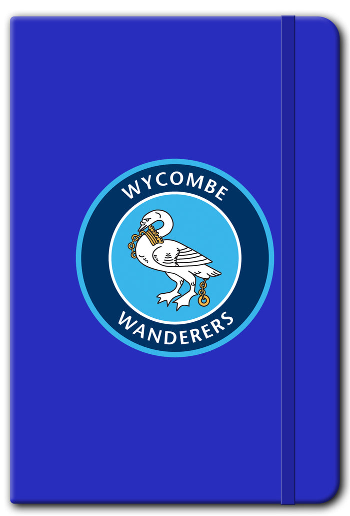 Wycombe Wanderers FC Logo A5 Soft Touch Notebook