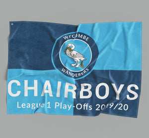 Wycombe Wanderers Play Off Flag - Limited Edition