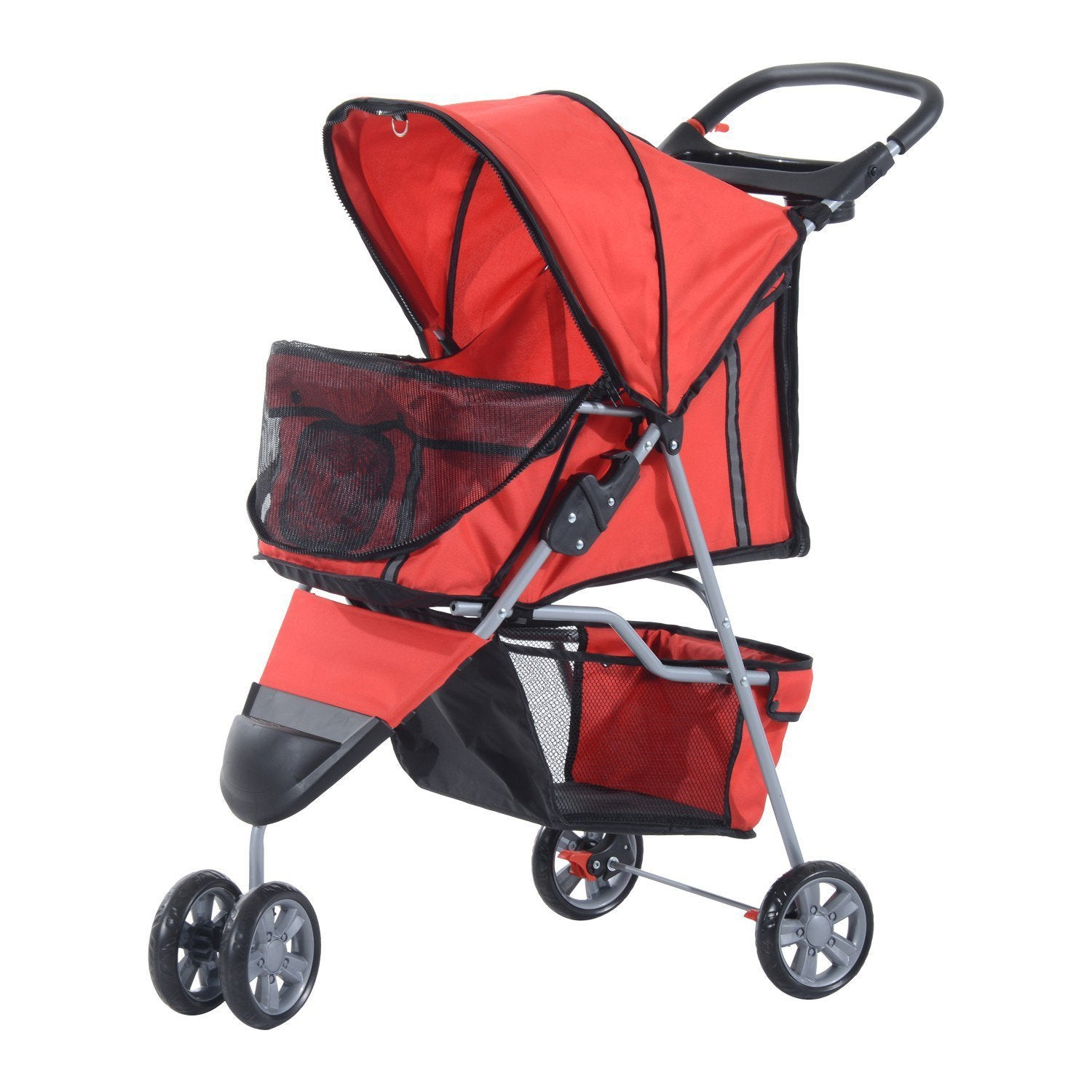 PawHut Pet Stroller With 3 Wheels