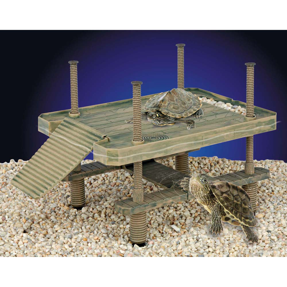 Penn Plax Reptology Turtle Pier Floating Basking Platform Large