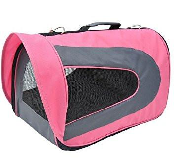 Pawhut Soft Sided Travel Pet Carrier Tote Bag - Pink