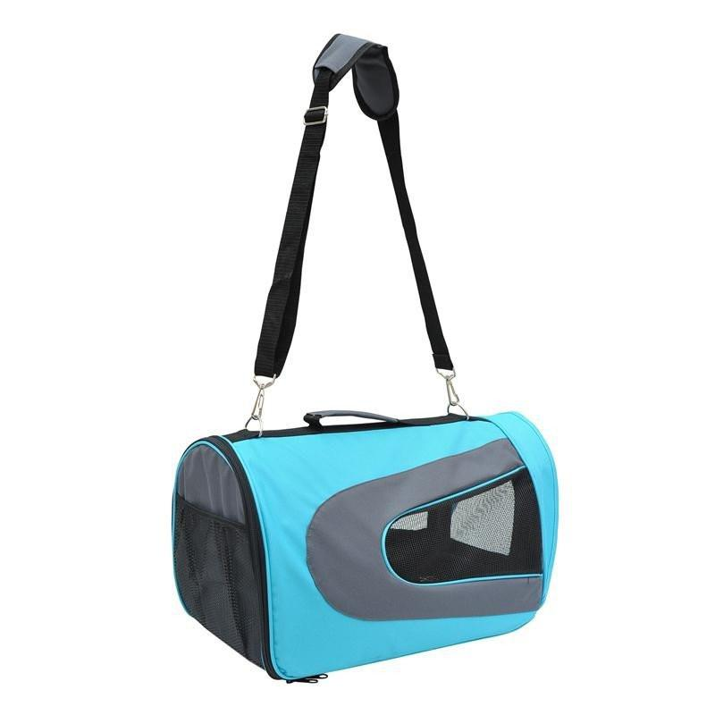 Pawhut Soft Sided Travel Pet Carrier Tote Bag - Light Blue