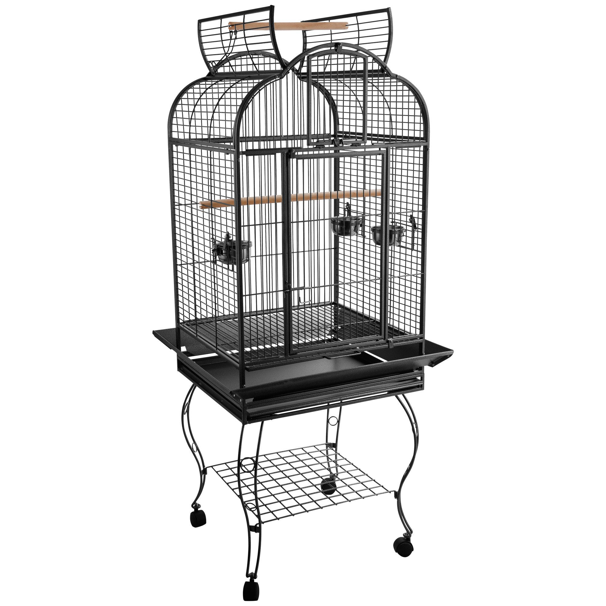 Large Bird Parrot Cage Open Play Top - PawHut 63-inch