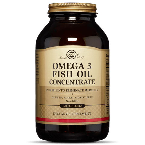 Solgar Omega-3 Fish Oil Concentrate 120ct Softgels