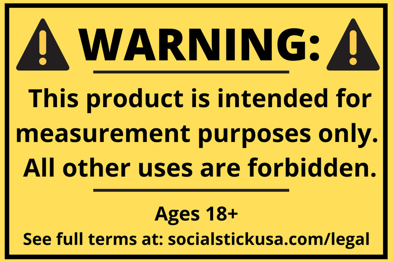 Social Stick Warning Label