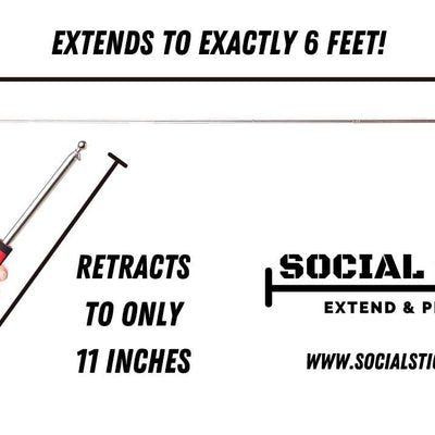 The Social Stick  - 6 Feet Of Social Distance (Ships Free) No Color Preference - Single