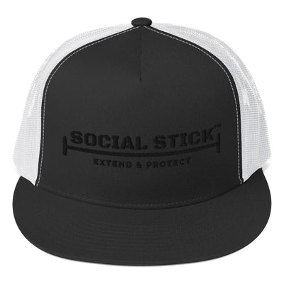 The Official Social Stick Trucker Cap Black/ White