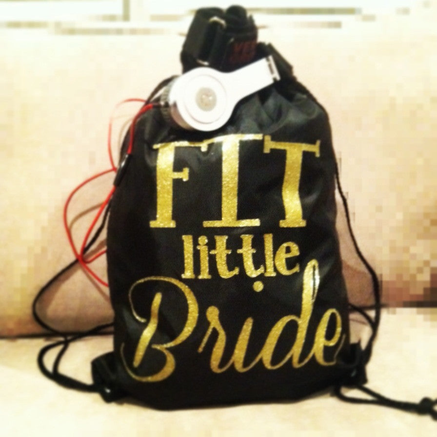 Fit Little Bride Gym Bag - Black and Gold