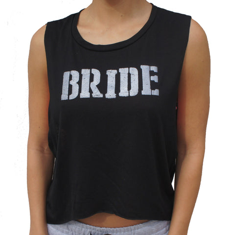 Bride Tank Top - Black and Silver Shimmer