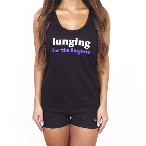 Lunges for the Lingerie Workout Tank