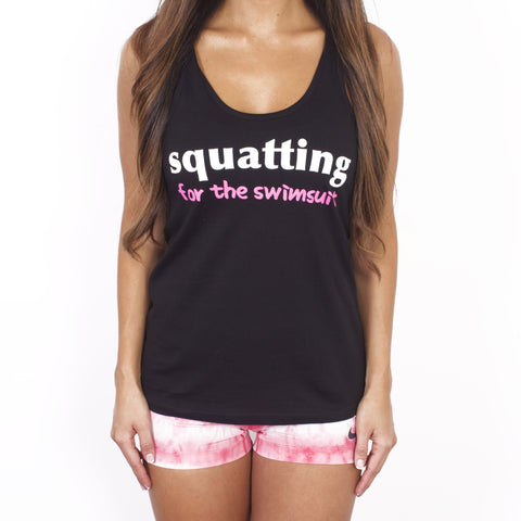 Squatting for the Swimsuit Workout Tank Top