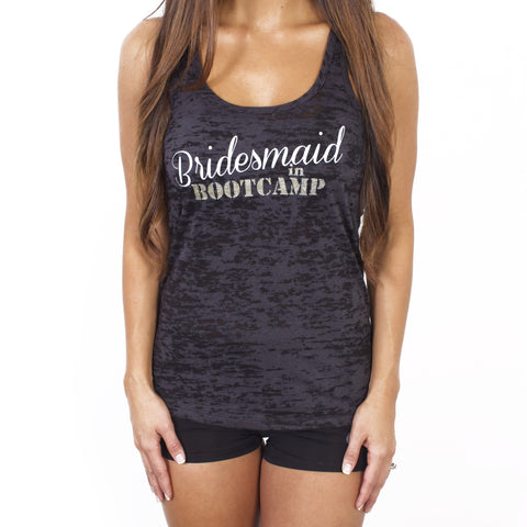 Bridesmaid in Bootcamp Workout Tank Top