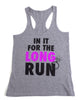 In It For The Long Run Workout Tank Top - Grey and Purple