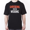 Shredding for the Wedding Men's Workout Tee - RED and WHITE