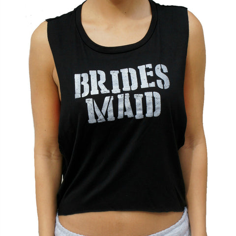 Bridesmaid Tank Top - Black and Silver Shimmer