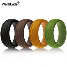Load image into Gallery viewer, WarBLade New 4pcs/set Hypoallergenic Flexible Silicone Rings For Men Wedding Bands