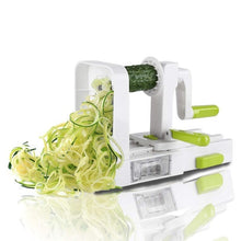 Load image into Gallery viewer, 5 Blade Vegetable Spiralizer Folding Veggie Pasta & Spaghetti Potato Vegetable Spiral Cutter Zucchini Slicer