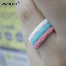 Load image into Gallery viewer, Women Wedding Bands: Silicone Rings, Sports, Hypoallergenic, and Flexible