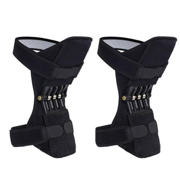 Knee Support Pads, Upgrade Power Knee Stabilizer Pads Knee Brace with 4 Powerful Springs, Breathable Protective Booster