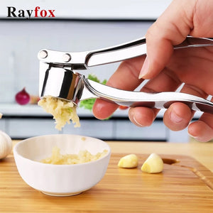 Stainless Steel Garlic Press Crusher Kitchen Cooking Vegetables Ginger Squeezer Masher Handheld Ginger Mincer Tools