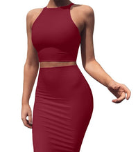 Load image into Gallery viewer, 2 Piece Skirt Set Outfits for Women