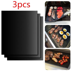Reusable Non-stick BBQ Grill Mat Baking Mat Teflon Cooking Grilling Sheet Heat Resistance Easily Cleaned Kitchen  Gadgets Tools