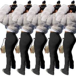 Stacked Leggings Bell Bottom Trouser