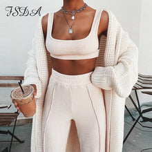 Load image into Gallery viewer, Women Set Summer Spaghetti Strap Crop Top Backless And Long Pants