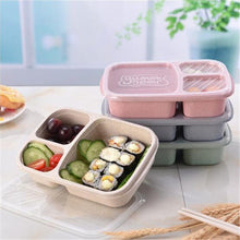 Load image into Gallery viewer, Lunch box Wheat straw Cartoon bento box Portable Eco-friendly food storage container for kids students school Microwavable