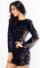 Load image into Gallery viewer, * BECKY  * SEQUIN & VELVET DRESS
