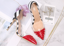 Load image into Gallery viewer, * STARLA * STUDDED HIGH HEELS