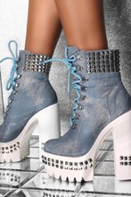 Load image into Gallery viewer, * BLUE * ANKLE BOOTS