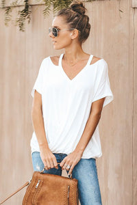 * JENNIFER * WHITE T-SHIRT