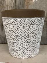 Load image into Gallery viewer, White Textured Flower Pot
