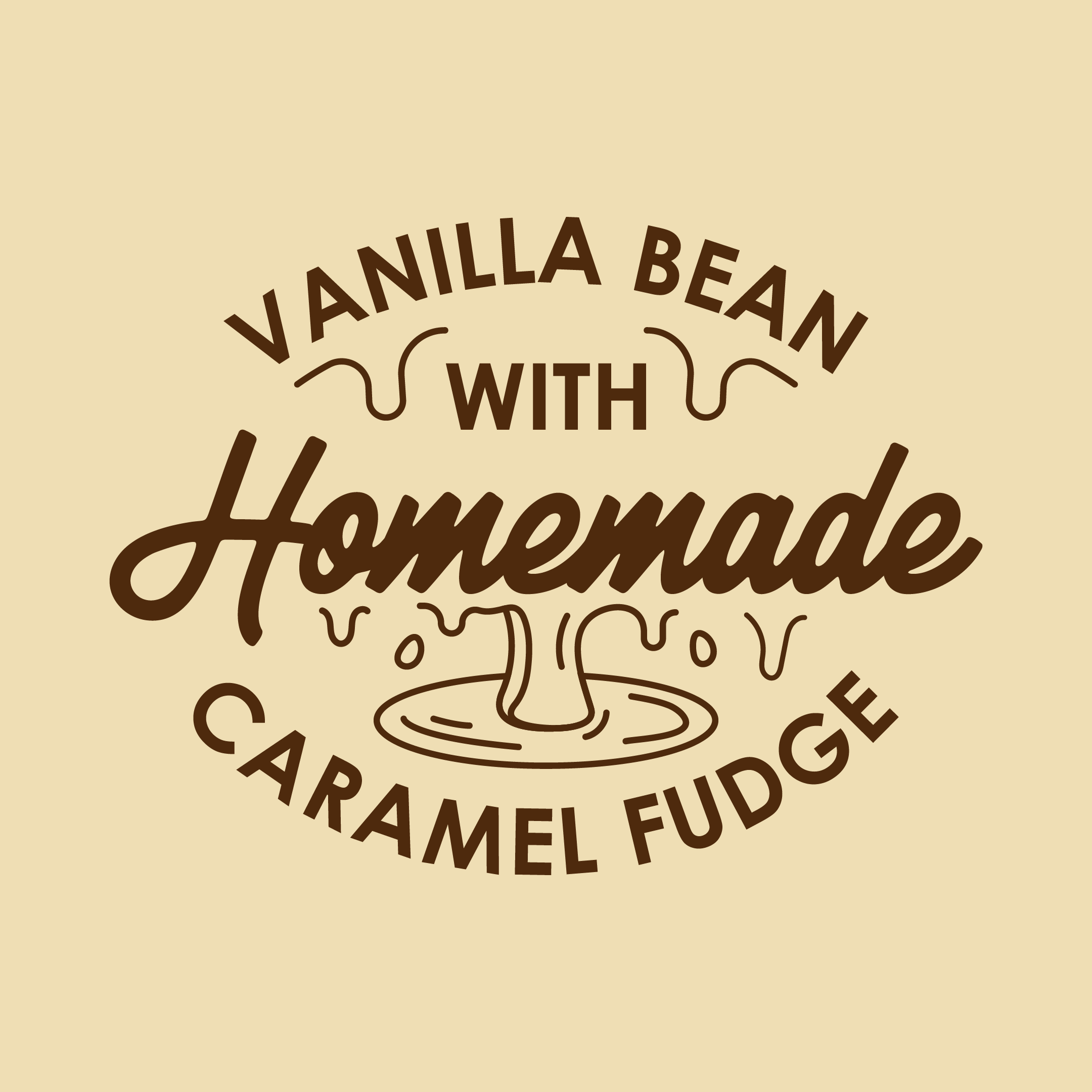 Vanilla Bean with Homemade Caramel Fudge 500ml TUBS