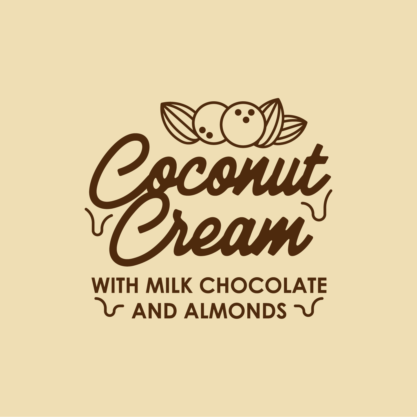 Coconut Cream with Milk Chocolate & Almonds 500ml Tub