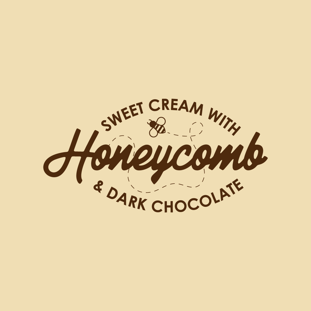 Sweet Cream with Dark Chocolate & Honeycomb 500ml Tub