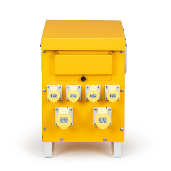 10kVA Air Cooled Site Transformer 4x 16A and 2x 32A Outlets 110V - Transformers - Trade Building Products
