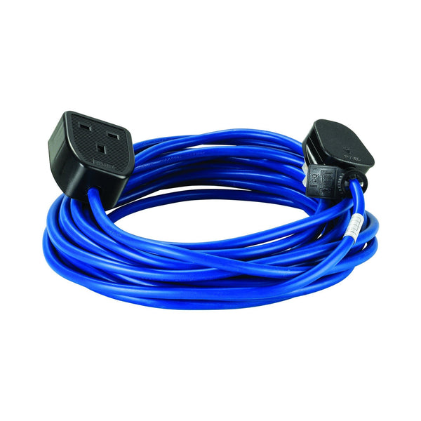 10M Extension Lead - 13A 1.5mm Cable - Blue 240V - Extension Leads and Fly Leads - Trade Building Products