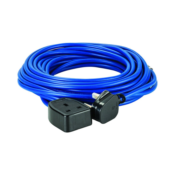 14M Extension Lead - 13A 1.5mm Cable - Blue 240V - Extension Leads and Fly Leads - Trade Building Products