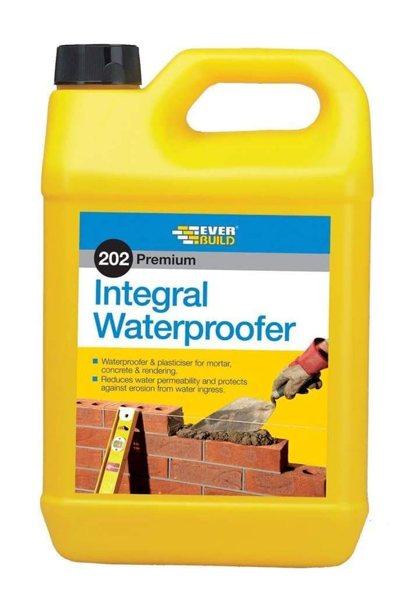 202 Integral Liquid Waterproofer - Mortar Concrete & Rendering - Waterproofing - Trade Building Products