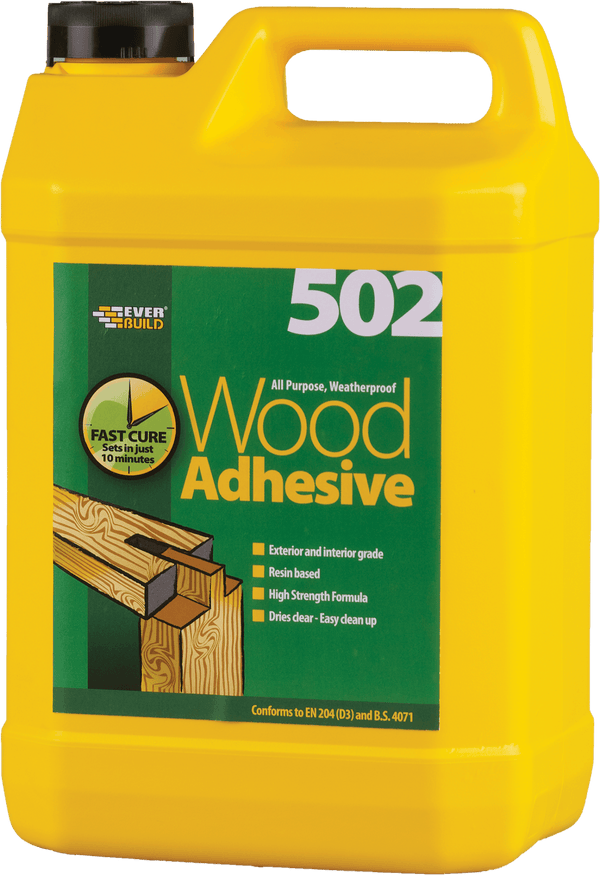 502 All Purpose Weatherproof Wood Adhesive - 5L - Cement Colourant - Trade Building Products