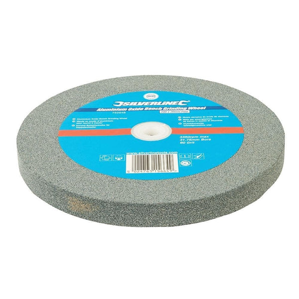 Aluminium Oxide Bench Grinding Wheel - Fine - 200mm - Power Tool Accessories - Trade Building Products