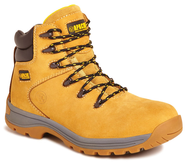 Apache AP314 CM S3 Wheat Nubuck Safety Boot - Clothing - Trade Building Products